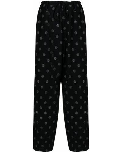 Czarne spodnie z printem Ys