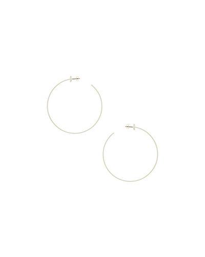 Белые серьги-кольца Jenny Bird