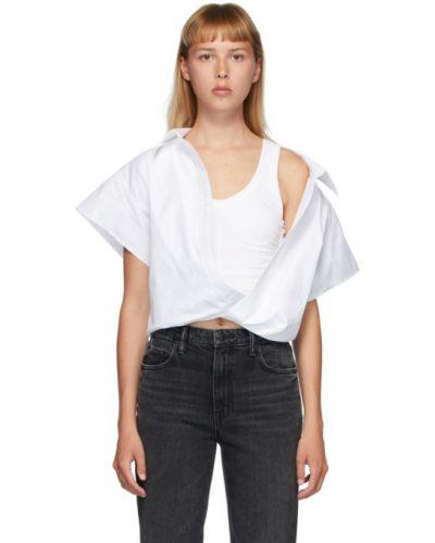Рубашка с коротким рукавом белая под запонки Alexander Wang