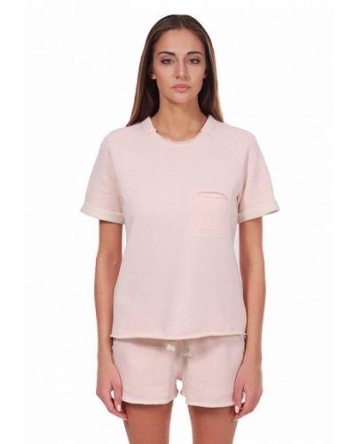 Розовая футбольная футболка Fusion