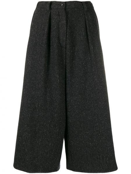 Z kaszmiru spodnie z wysokim stanem z paskiem Dusan