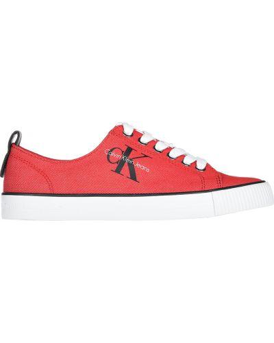 Красные кеды Calvin Klein Jeans