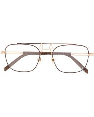 Brązowe okulary skorzane Calvin Klein 205w39nyc
