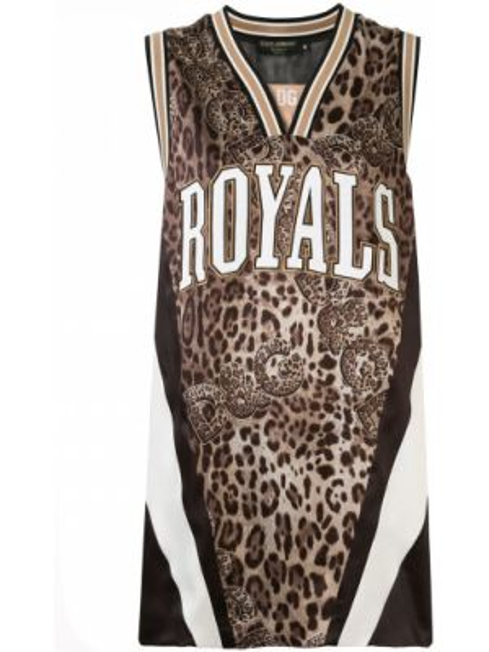 Brązowa sport kamizelka bez rękawów w paski Dolce And Gabbana