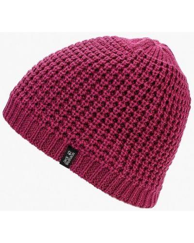 Розовая шапка осенняя Jack Wolfskin