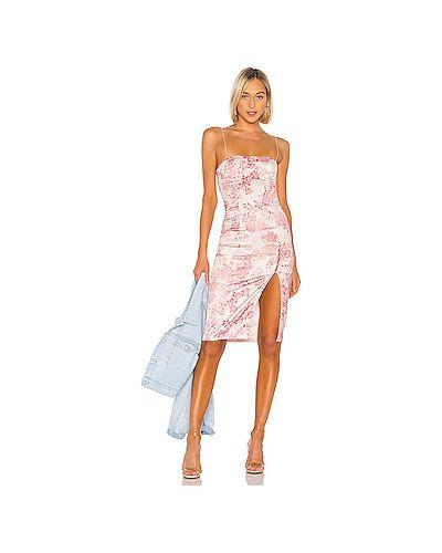 Платье миди розовое на пуговицах H:ours
