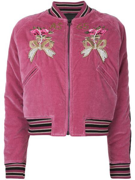 Хлопковая розовая куртка с вышивкой As65