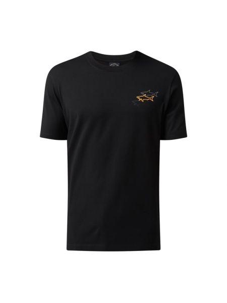 Czarna t-shirt bawełniana Paul & Shark