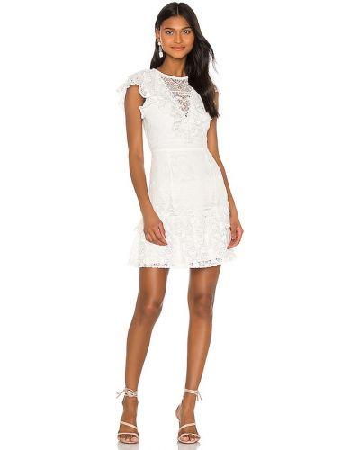 Хлопковое белое платье с подкладкой Saylor