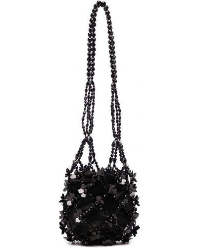 Czarna torba na ramię z akrylu Simone Rocha