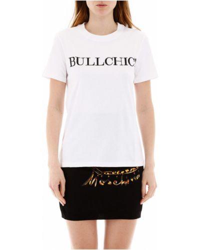 Bawełna bawełna t-shirt z napisem Moschino