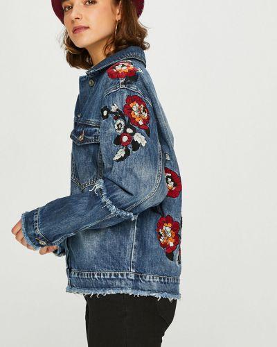 Джинсовая куртка на пуговицах облегченная Answear