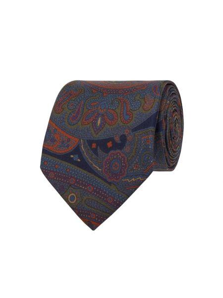 Niebieski klasyczny krawat z jedwabiu Blick