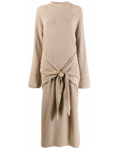 Платье с заниженной талией с драпировкой Nanushka