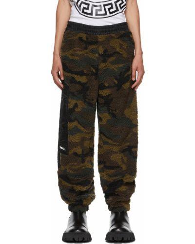 Czarne spodnie Versace