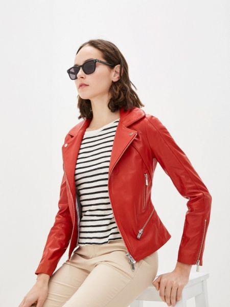 Кожаная красная кожаная куртка Arma