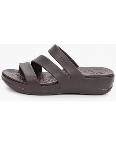 Сланцы из полиуретана - коричневые Crocs
