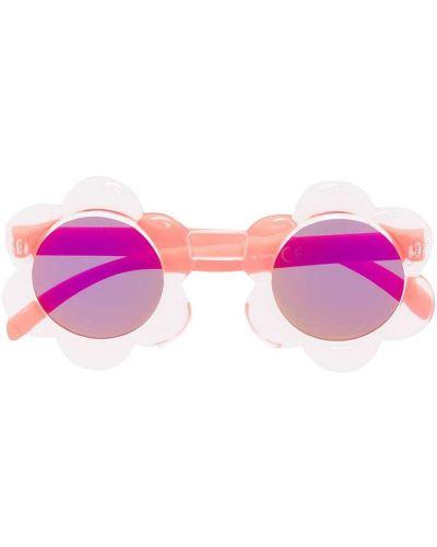 Розовые солнцезащитные очки круглые Molo