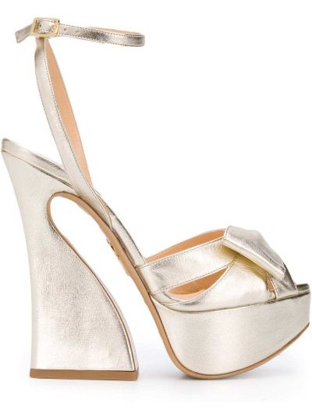 Открытые босоножки на каблуке на высоком каблуке Charlotte Olympia