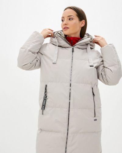 Бежевая теплая утепленная куртка Luhta