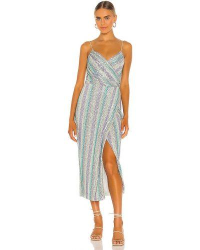 Фиолетовое платье миди с подкладкой на молнии Saylor