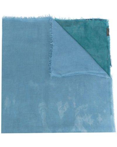 Niebieski szalik z jedwabiu z printem Faliero Sarti