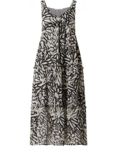 Czarna sukienka długa rozkloszowana z falbanami Freebird