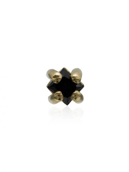 Золотистые желтые золотые серьги с изумрудом Lizzie Mandler Fine Jewelry