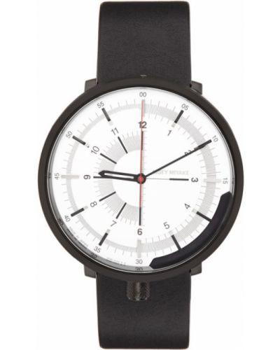 Czarny zegarek mechaniczny srebrny klamry Issey Miyake Men