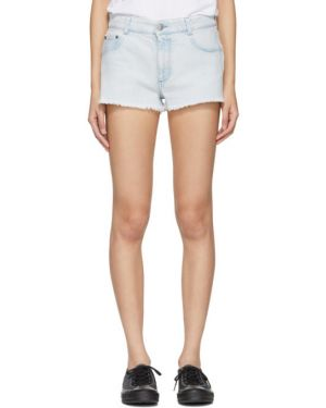 Джинсовые шорты бежевые с карманами Stella Mccartney