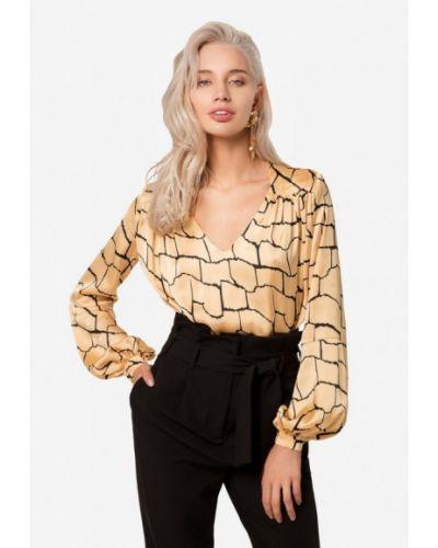 Блузка с длинным рукавом осенняя желтый Solou