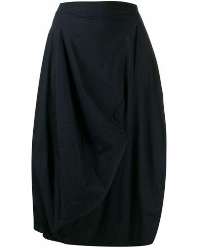 Синяя асимметричная юбка миди в рубчик Rundholz Black Label