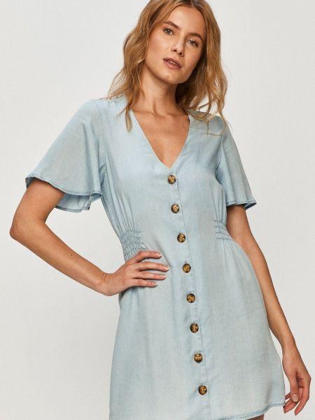 Джинсовое платье с поясом с вырезом на пуговицах Tally Weijl