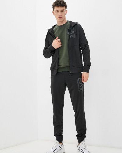 Черный спортивный костюм осенний Ea7