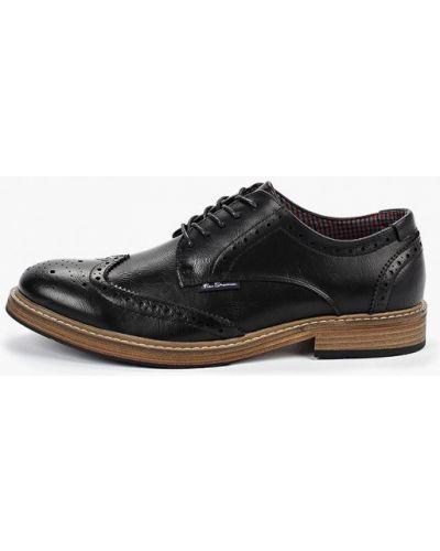 Туфли черные из искусственной кожи Ben Sherman