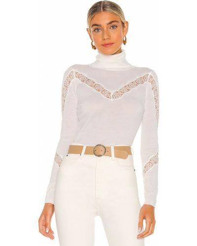 Текстильный ажурный белый свитер Milly
