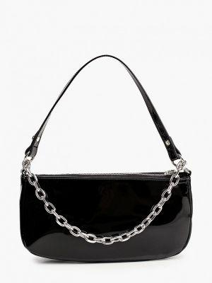 Лаковая черная кожаная сумка через плечо Befree