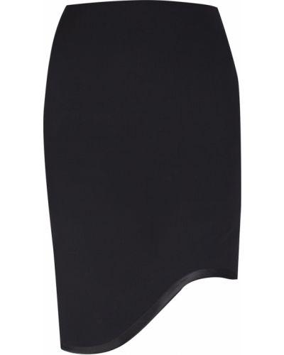 Асимметричная черная юбка карандаш из вискозы Jay Ahr