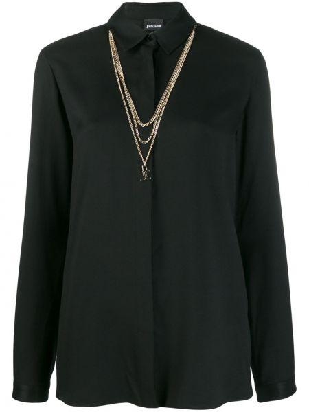 Рубашка с длинным рукавом классическая свободного кроя Just Cavalli