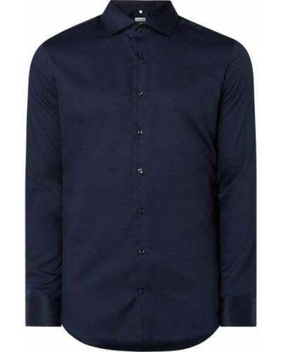 Niebieska koszula bawełniana z długimi rękawami Seidensticker