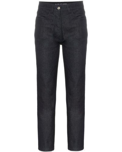 Классические прямые джинсы с аппликациями с карманами на пуговицах A_plan_application