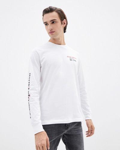 Белая зимняя футболка Diesel