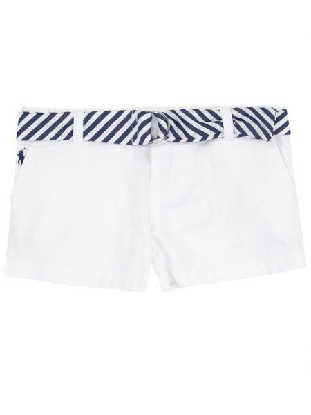 Białe szorty materiałowe Polo Ralph Lauren