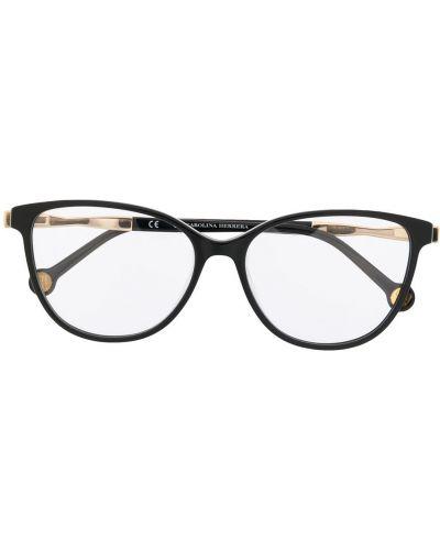 Черные очки кошачий глаз металлические Ch Carolina Herrera