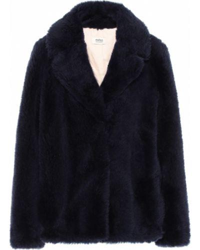 Синее шерстяное пальто Yves Salomon Meteo
