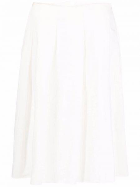 Хлопковая белая плиссированная юбка Rundholz