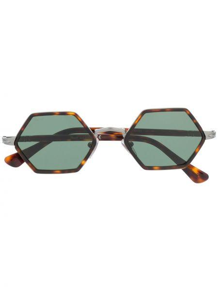 Солнцезащитные очки хаки металлические Persol