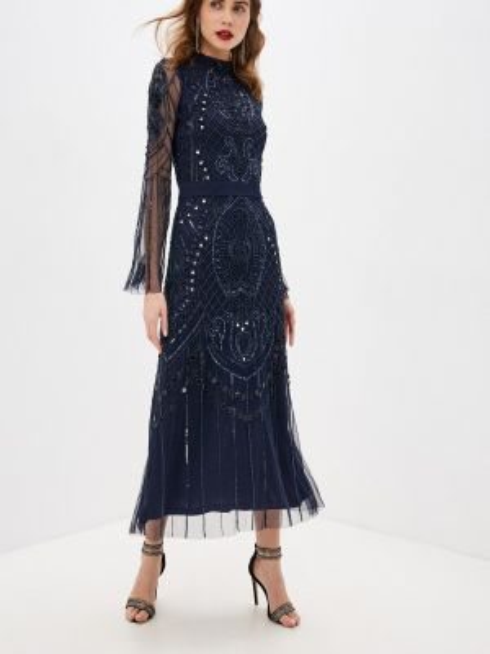 Вечернее платье осеннее синее Frock And Frill