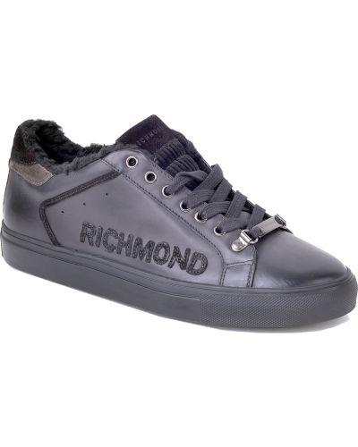 Черные кеды с мехом Richmond