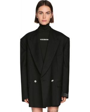 Пиджак с заплатками оверсайз Vetements